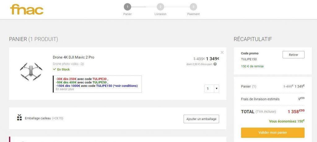 drone moins cher à la FNAC